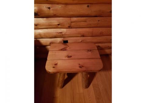 Cedar log tables